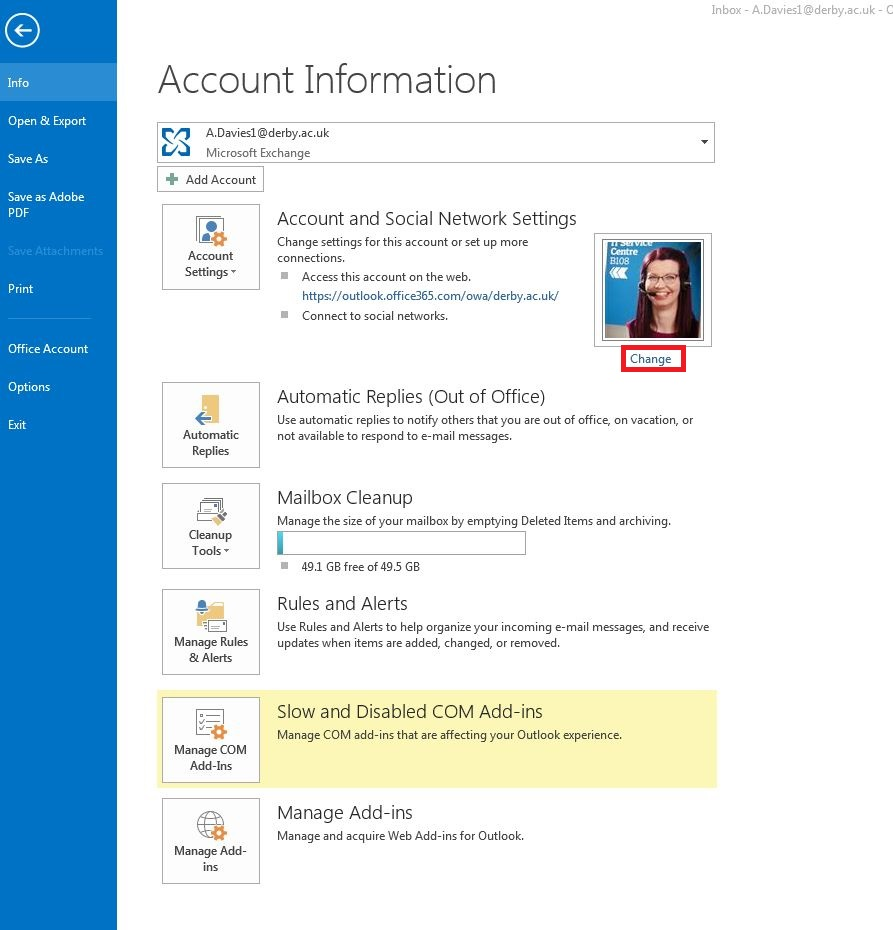 change microsoft office account email