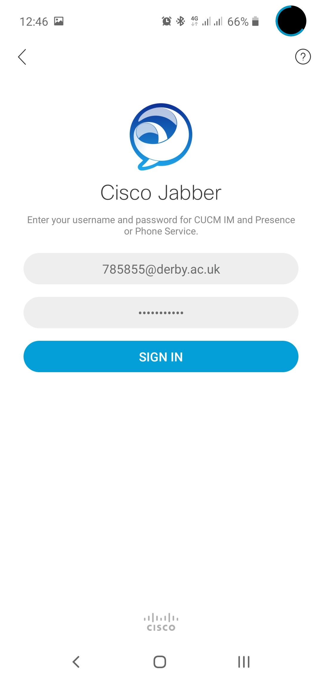 Jabber For Android It Services University Of Derby